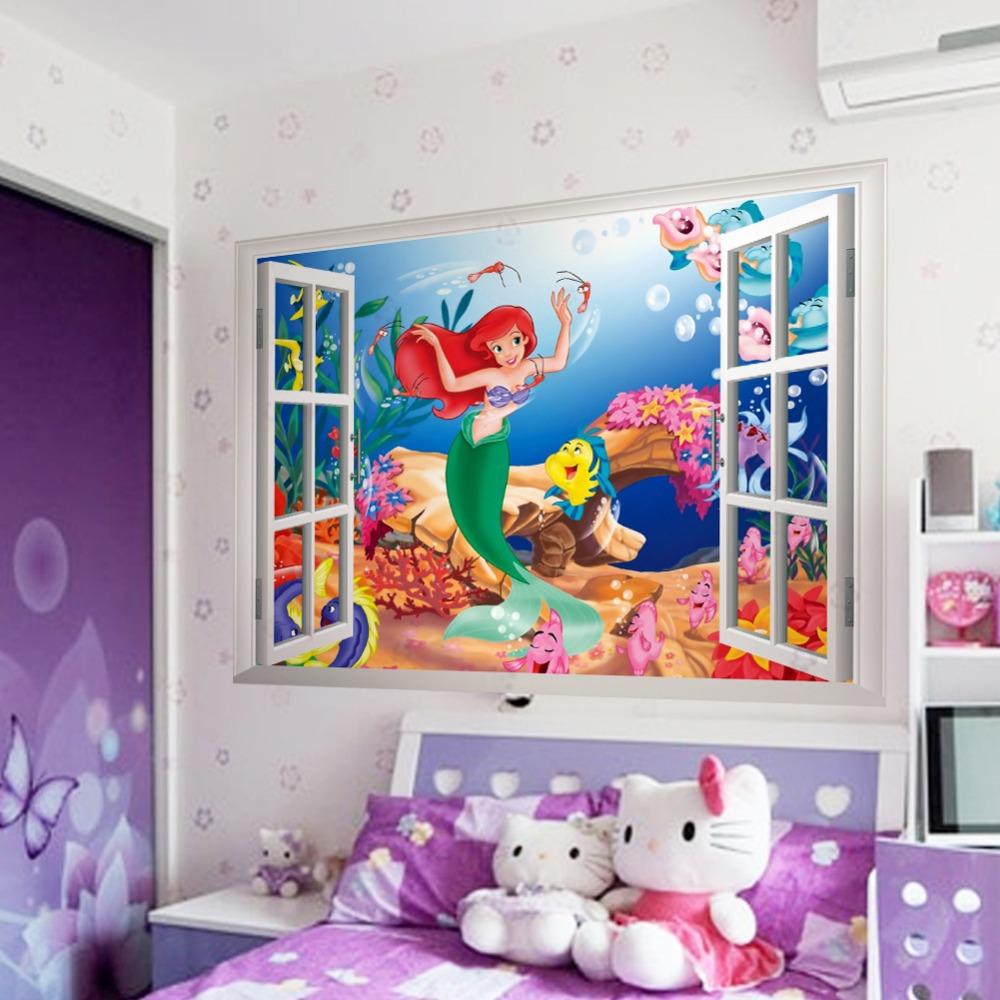 affreschi murali finestre finte : ... finestre impermeabile dei bambini adesivi murali camera adesivi murali
