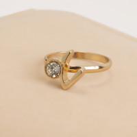 FLORA Christmas gift Swiss CZ diamond rings in jewelry top quality beautiful, 100% hand made fashion jewelry