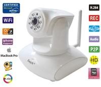 EasyN 147W Plug & Play IP Camera - H.264, Wi-Fi, 3x Digital Zoom, Night Vision, 2 Megapixel 1/4 Inch CMOS, Micro SD Card Slot