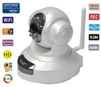 EasyN H.264 Wireless WiFi IP Camera HD 1MP CMOS CCTV Security System Alarm PT webcam Free Shipping