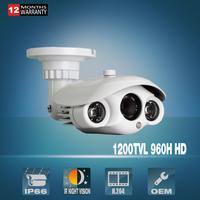 CCTV Camera 1200TVL Outdoor Bullet Camera SONY CMOS HD Waterproof IP66 2 Array IR Leds Home Video Security Surveillance Camera