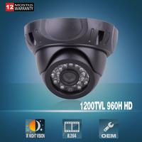 New! CMOS Sensor HD Outdoor Indoor Video Surveillance 1200TVL IR-CUT 48 IR leds Dome Security CCTV Camera With OSD