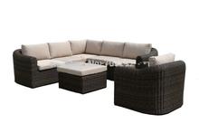 2015 New Design Sofa Furniture Garden Patio Rattan L Shaped Lounge Suite Furniture(China (Mainland))