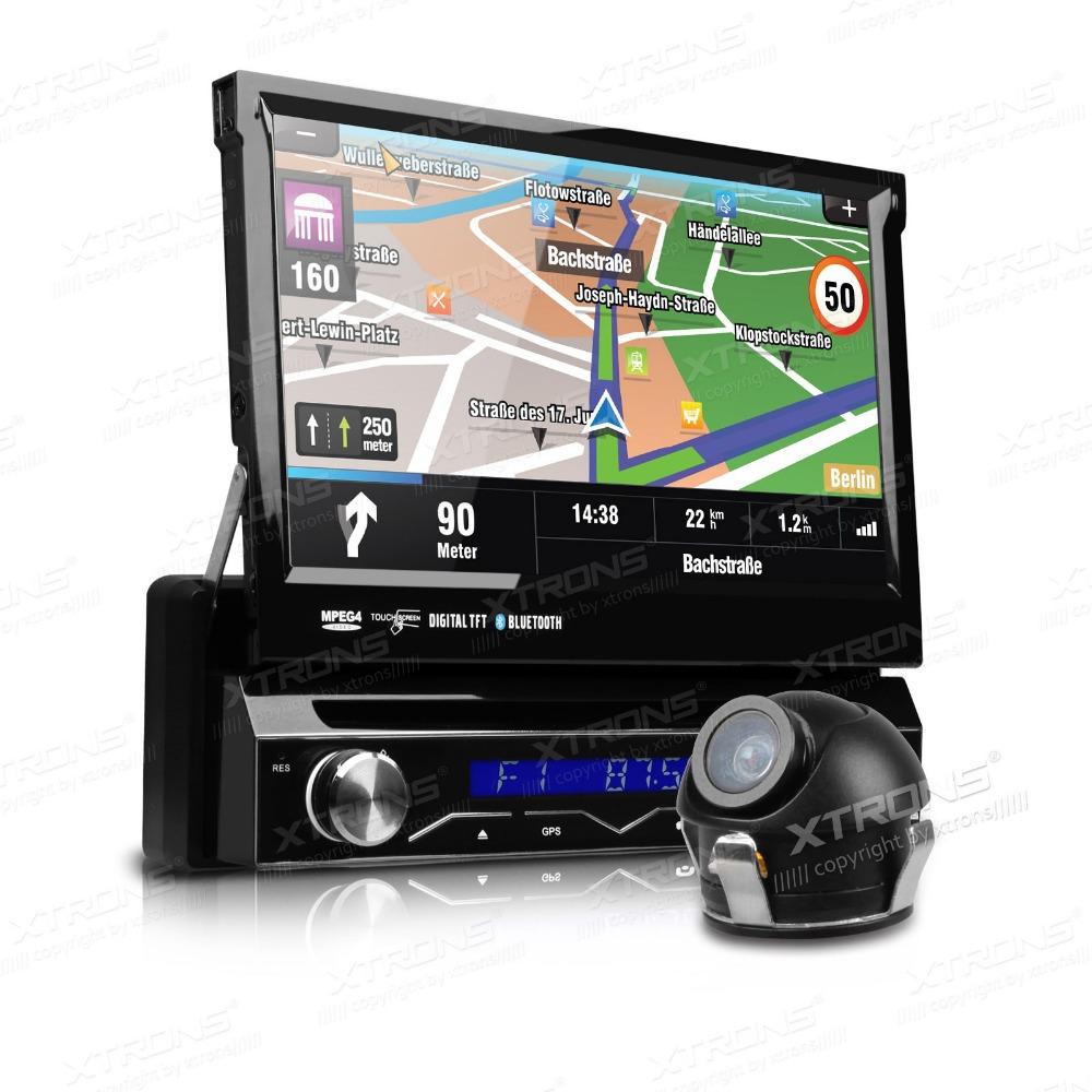 "XTRONS 7"" Touch Screen Single 1 Din Car DVD Car Radio One Din Car GPS Full Motorized Detachable Panel Stereo Bluetooth SD USB(China (Mainland))"