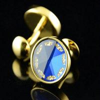 Retail 1 pairs crystal cufflinks male shirt  brass men's shirt cuff cufflinks cuff links