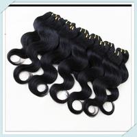 Top Quality 100% Peruvian Body Wave Human Hair Full Head Hair 6bundles 50g/pc Pure Color Natural Black Hair Color#1B Mix Length