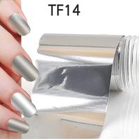 1Pcs New Useful Big size 130*4cm Fashion DIY Silver Nail Art Stickers Polish Foil gel Tips Gitters Decoration Hot Sale 06020502