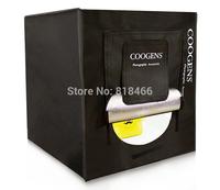 COOGENS led softbox 60x60cm professional photography light box studier set background cloth equipment