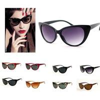 2015 New Wholesale Women Brand Designer Luxury Retro Cat Eye Clear Lens Glasses Sexy Vintage Fashion Eyeglasses Sunglasses