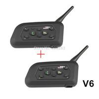 2 X Multi-Interphone 6 Riders Motorcycle Helmet Wireless Bluetooth Earphone Waterproof (one Pair)