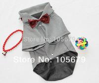 1 PC Dog Suit Evening Dress Dog Boy Clothes T-Shirt  Factory Produce Drop Shipping A1010