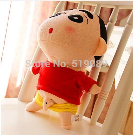 "Free Shipping 1pcs 20cm=7.8"" Naughty Crayon Shin Chan Stuffed Plush Doll Japanese Anime Shin-chan Action Figure For Best Gift(China (Mainland))"