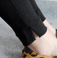 2015 Spring new winter outer wear solid black legging Feet pencil pants Casual Leggings women Free Shipping