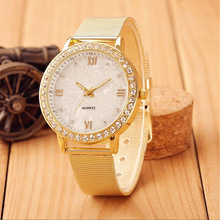 New Arrival Golden Watch Women Rhinestone Watch Women Fashion Watch Quaz Watch 1piertce/lot BW-SB-1322