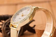 New Arrival Golden Watch Women Rhinestone Watch Women Fashion Watch Quaz Watch 1piertce lot BW SB