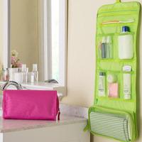 Promotions 1Pcs New maleta de maquiagem Portable makeup organizer bag Foldable travel bag storage Toiletry Bags Wash Bag