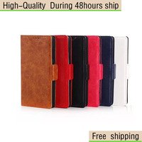 For Nokia Lumia 535 For Microsoft 535 Oil Skin Wallet Flip PU Leather Case Free shipping