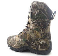 1pair New outdoor tall lace-up tree Camouflage 100% Waterproof hunting dersert Boots camo color shoes