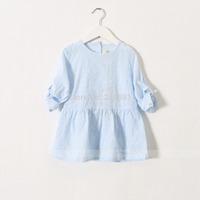 2015 Girl's spring round collar dress , costume for girls , baby dresses , 5pcs/lot   YS26