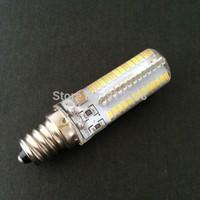 Wholesale Super Bright Warm White/White 360 Degree 110V/220V 104SMD 3014 E12/E17 Led 9w Bulb 100pcs/lot