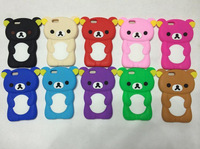 Free Shipping!1pc Soft Rubber Silicone 3D Brown Rilakkuma Bear Hard Back Case for iPhone6  For iPhone 6 Back Cover