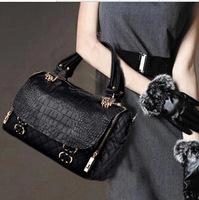 Autumn and winter fashionable lozenge Vintage handbag leather leather female bag plus Pu messenger B25