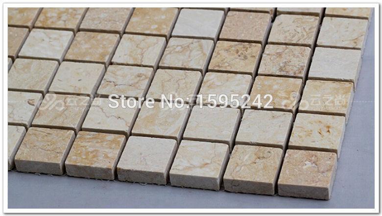 A sala de estar TV telha cerâmica parede definição europeu mármore de pedra natural mosaico natureza pedra banheiro mosaico parede configuração TV(China (Mainland))