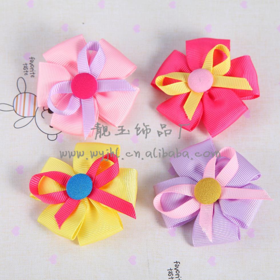 Korean girl sunflowers hairclip children cloth cute hair accessories hairpin 8090(China (Mainland))