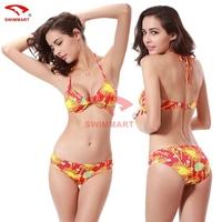 Modern Fit Triangle Strappy Bottom Scrunch bandage Bikini Set/Swimsuit String Micro Brazilian swimwear Free ship DM037