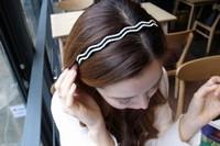 Fashion Brand Hair Accessories for Women Elegant Crystal Rhinestone Wavy Shape Headbands Headwear