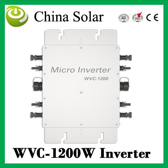 Micro PV Inverter On Grid Inverter Output 1200W Solar micro inverter solar panel inverter 1200W(China (Mainland))