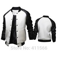 2015 New Men's Korean Fashion Sport Casual Slim Fit Coats Big Pocket Design Solid Color Sweatshirt Baseball Jackets Free Shiping
