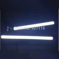 15pairs Ultra Bright Car Light 12V LED COB Car Auto DRL Driving Daytime Running Lamp Fog Light Silver Frame