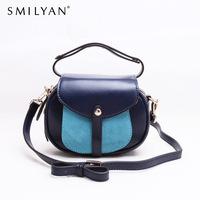 Smilyan women messenger bags genuine leather small shoulder bag purses designer handbags high quality fashion bolsas femininas