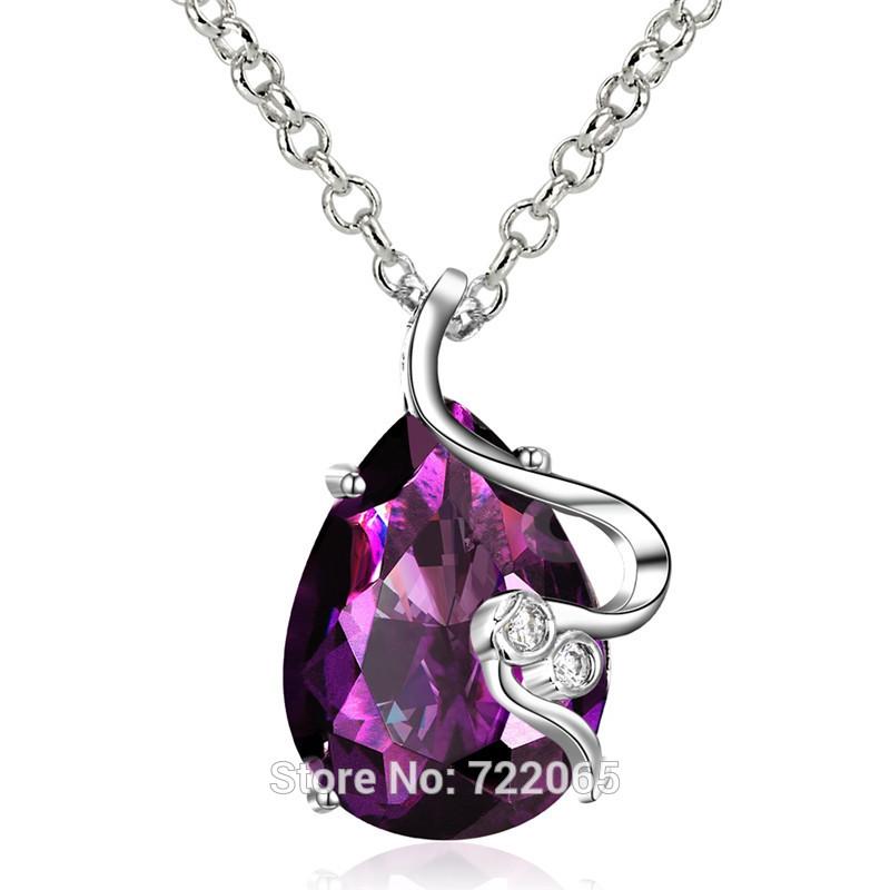 Valentine's day Gift Wholesale Inlaid Purple Cubic Zirconia S ...