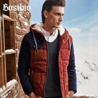 Bosibio winter Men wadded jacket fashion slim male wadded jacket personality cotton-padded jacket