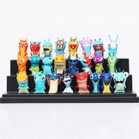 24pcs/set Cute Cartoon Slugterra PVC Action Figures Toys Free Shipping
