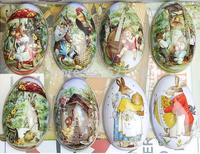 2015 Tin tin box hi egg box hi egg packaging box gift box tin easter eggs  free shipping