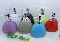 Ceramic soap dispenser, lines of relief, pressing, packing, hand wash bottle, perfume bottle, 400ml