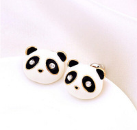 Clearance! Cheap Price Jewelry Free Shipping,Fashion Cute White Panda Studs Earrings For Women