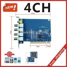 H.264 видео / аудио DVR карта 120 кадр./сек. 4CH hannels видеонаблюдения карты захвата PCI совместимость с бесплатная доставка