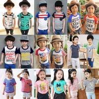 2015 summer children t-shirt child tops tees kids clothes boys blouse girls short sleeve t shirt  cartoon yumage