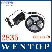 5M SMD2835 300Leds LED strip light DC12V with 12V3A power US EU UK AU (The2835 Power Consumption as 3528,Brightness as 5050)