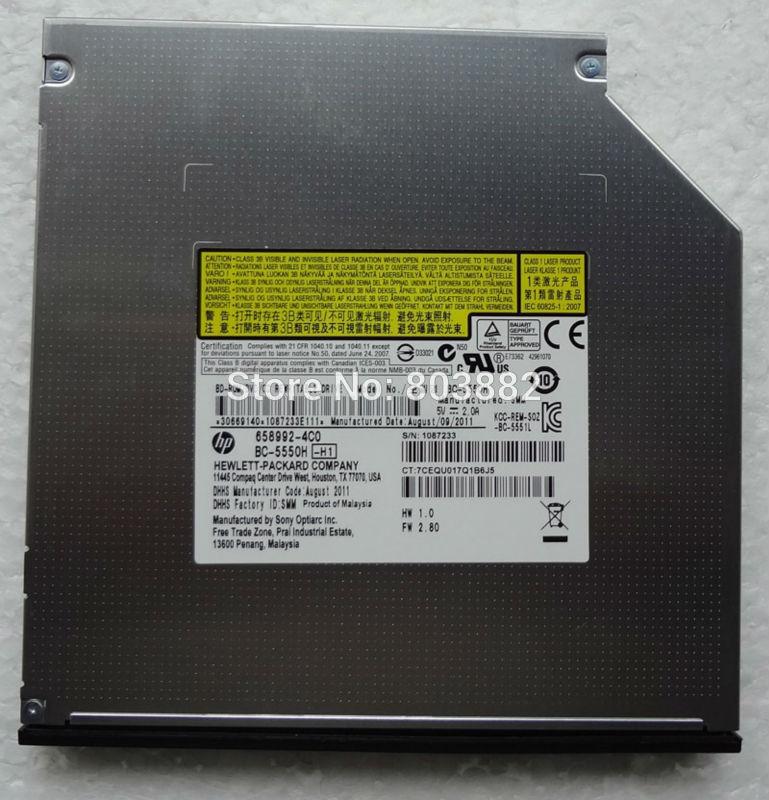 12.7MM SATA BC-5550H Blu-ray Combo DVD R / RW RAM Burner Drive(China (Mainland))