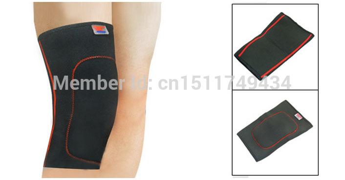 Black Red Sponge Inside Pullover Sport Protective Knee Support Brace 2pcs(China (Mainland))