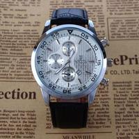 AutoDate Army Casual Brand Clock Fashion Men'S Military Quartz Clock Luxury Leather Strap Belt Big Dial Watches Men Wristwatches