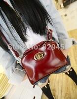 Calf Leather Women Small Bag Vintage Metal Women Shoulder Messenger Bag Fashion Ladies Cross Body Purse