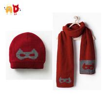 AD Children's Superman Hat Scarf Set Kids Cap and Scarf Set(China (Mainland))