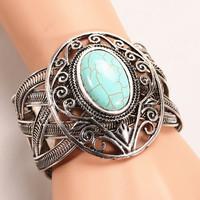 Fashion bracelet. New design Retro Tibet silver weave twist turquoise bangle & bracelets for woman Factory direct sales Z013
