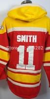 2014-15 Stitched  11 Alex Smith  Red  Football  Hoodies Sweatshirt Winter Jacket Size:48-56